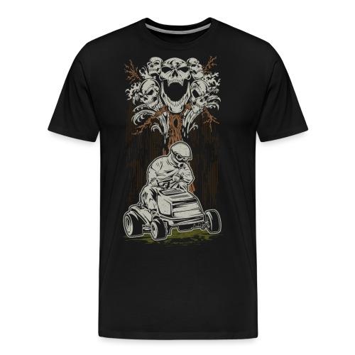Lawnmower Skull Tree - Men's Premium T-Shirt