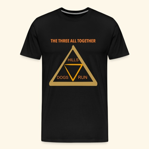 Run4Dogs Triangle - Men's Premium T-Shirt
