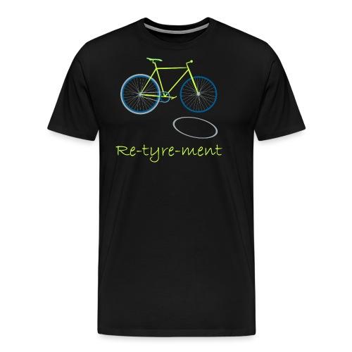 Re-tyre-ment (Yellow Blue) - Men's Premium T-Shirt