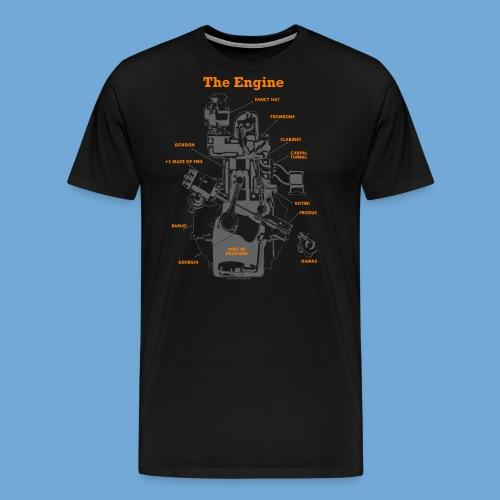 Engine Diagram - Men's Premium T-Shirt