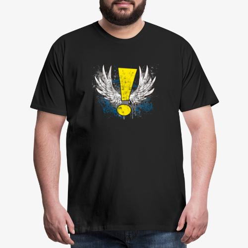 Winged Whee! Exclamation Point - Men's Premium T-Shirt