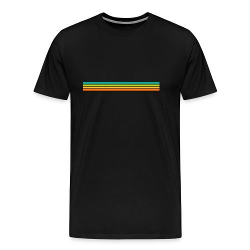 striped mug black logo png - Men's Premium T-Shirt