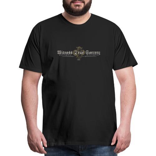 Witness True Sorcery Logo - Men's Premium T-Shirt