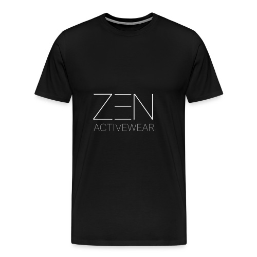 Zen Activewear white 2 - Men's Premium T-Shirt