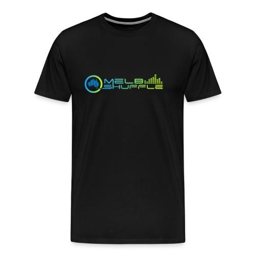 Melbshuffle Gradient Logo - Men's Premium T-Shirt