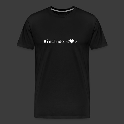 Include Heart (Dark Background) - Men's Premium T-Shirt