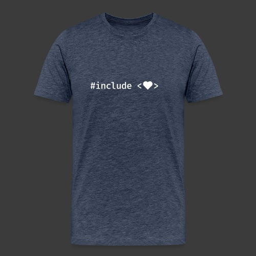 Include Heart (Dark Background) - Men's Premium T-Shirt