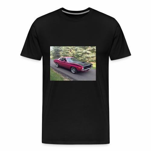 Plymouth 'Cuda 440+6 Pak 4-Speed - Men's Premium T-Shirt