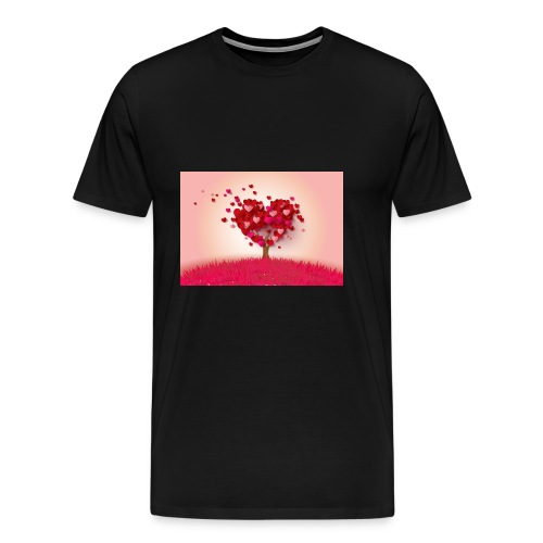 Heart Love Tree - Men's Premium T-Shirt