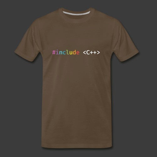 Rainbow Include C++ (Dark Background) - Men's Premium T-Shirt