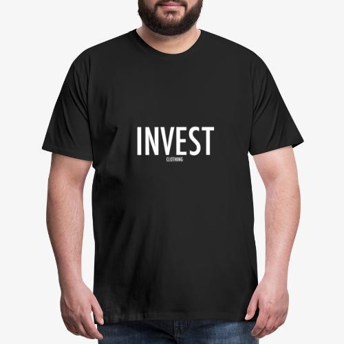 Invest Clothing White Text - Men's Premium T-Shirt