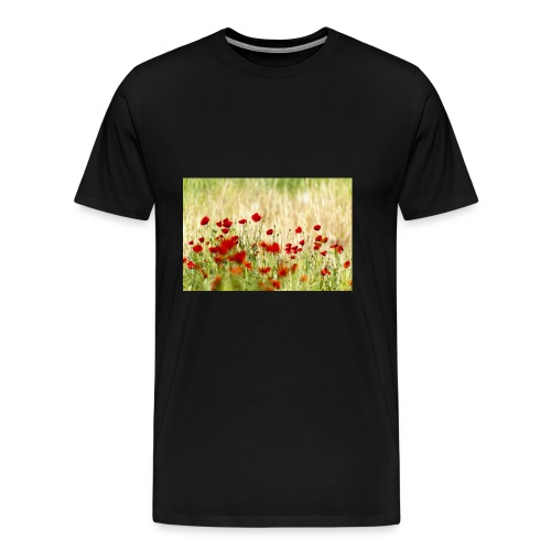 Iranian Poppies - Men's Premium T-Shirt