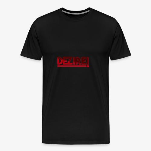 Dezire   Metallic Red - Men's Premium T-Shirt