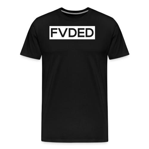 FVDED Cutout resize V1 white - Men's Premium T-Shirt
