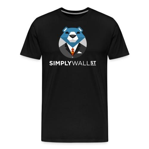 Simply Wall St T-Shirt with Bear Logo - Men's Premium T-Shirt