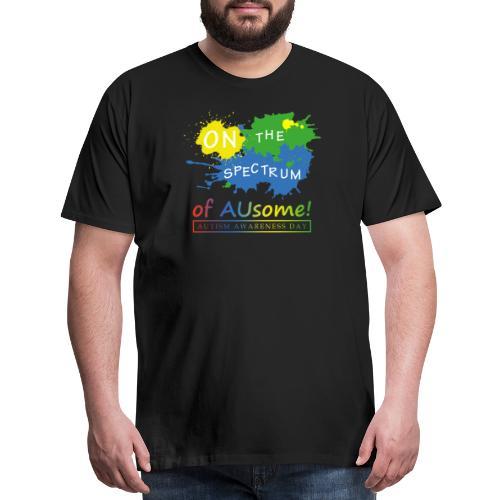On the Spectrum of AUsome Autism Awareness Day - Men's Premium T-Shirt