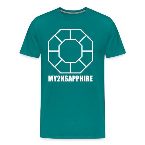 Unisex White Sapphire Hoodie - Men's Premium T-Shirt