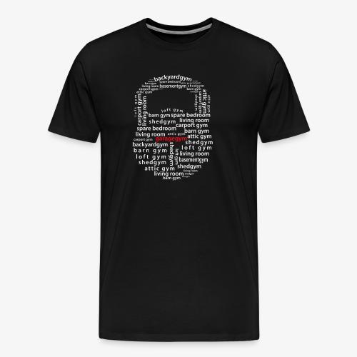 Kettlebell Home Gym Mosaic - Men's Premium T-Shirt