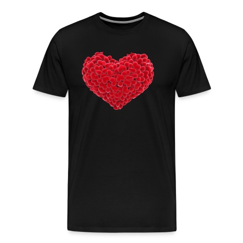 Valentine flower hear - Men's Premium T-Shirt