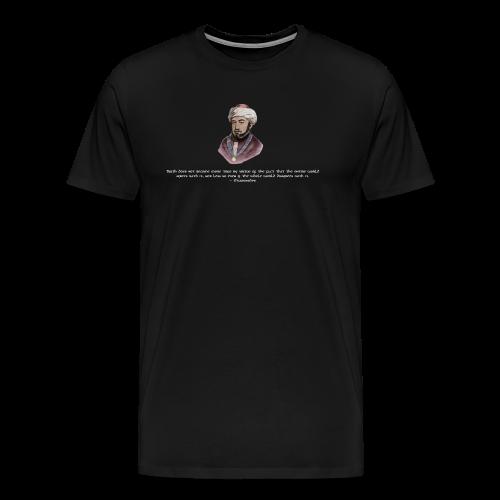Maimonides shirt T-shirt jewish torah rabbi - Men's Premium T-Shirt