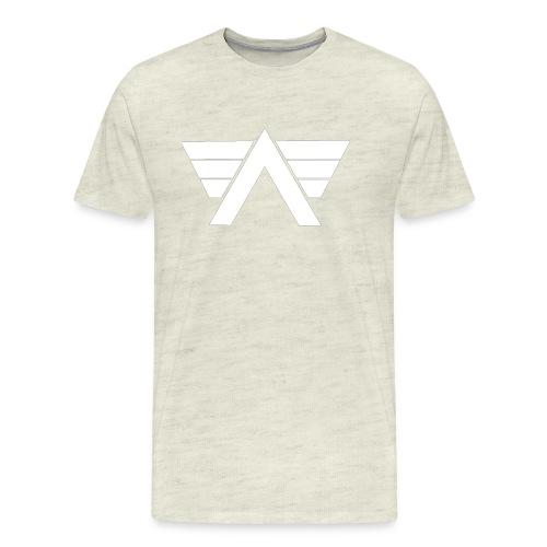 Bordeaux Sweater White AeRo Logo - Men's Premium T-Shirt