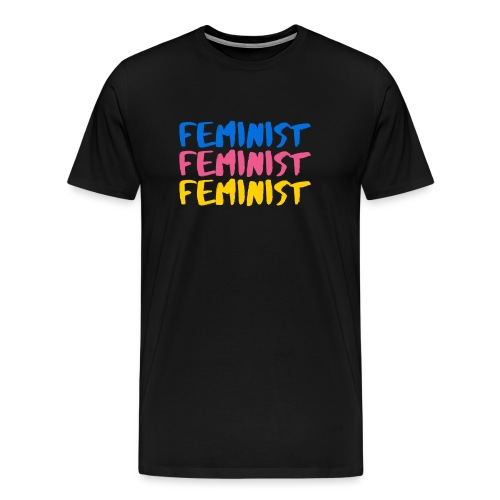 Tri colour feminist BIG PNG png - Men's Premium T-Shirt