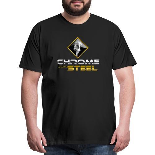 Chrome and Steel Radio Logo - Men's Premium T-Shirt