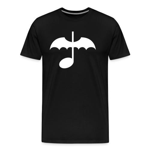 Music Note with Bat Wings - Men's Premium T-Shirt
