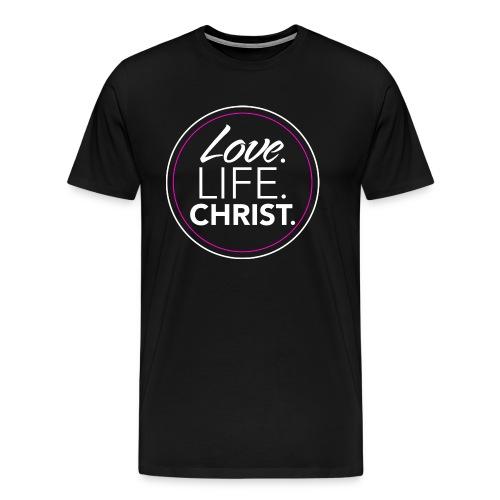 ladies_lovelifechrist_ white & pink - Men's Premium T-Shirt