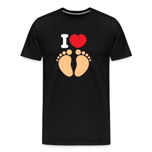 I HEART FEET - Men's Premium T-Shirt