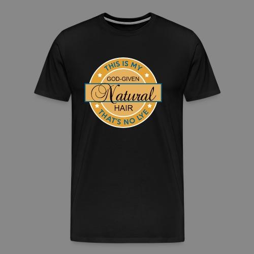God Given Natural Hair - Men's Premium T-Shirt
