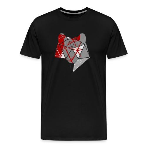 Abstract Wolf - Men's Premium T-Shirt