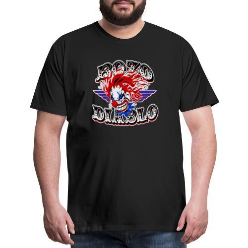 Bozo Diablo Crazy Clown Illustration - Men's Premium T-Shirt