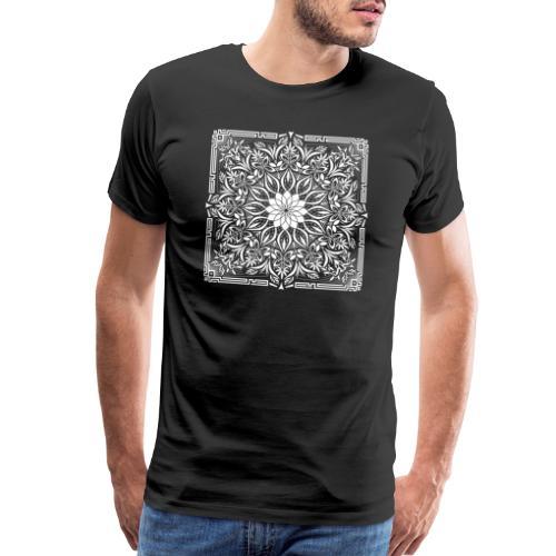 Psychedelic Mandala Geometric Illustration - Men's Premium T-Shirt