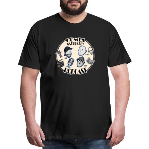 Comes Naturally Logo - Men's Premium T-Shirt