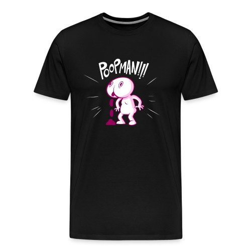 POOPMAN0CHICKS png - Men's Premium T-Shirt
