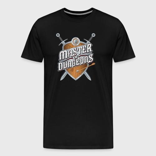 master of dungeons shield and swords fantasy gift - Men's Premium T-Shirt
