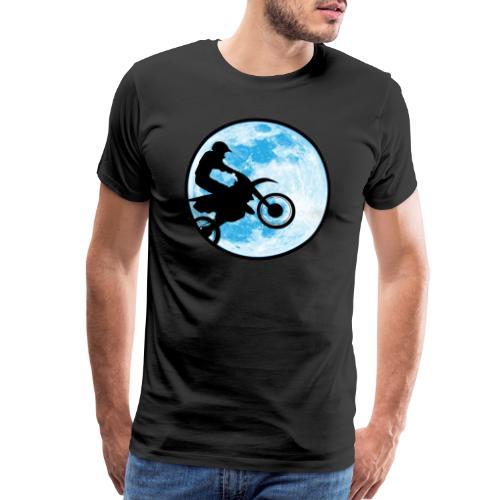 Motocross Motorcycle Blue Moon - Men's Premium T-Shirt