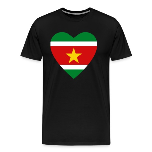 Suriname Flag Heart - Men's Premium T-Shirt