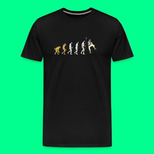 the L in Evolution - Men's Premium T-Shirt