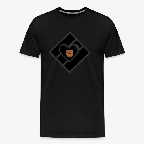 JDC w/ Blk Luv & Fist - Men's Premium T-Shirt