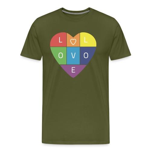 Rainbow Heart - Men's Premium T-Shirt
