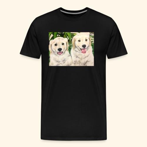 Golden Pups by Kelli Starkey @LACreationsLLC - Men's Premium T-Shirt