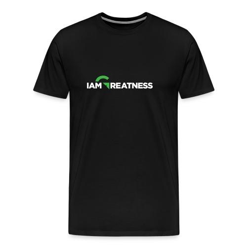 White iAmGreatness Logo - Men's Premium T-Shirt