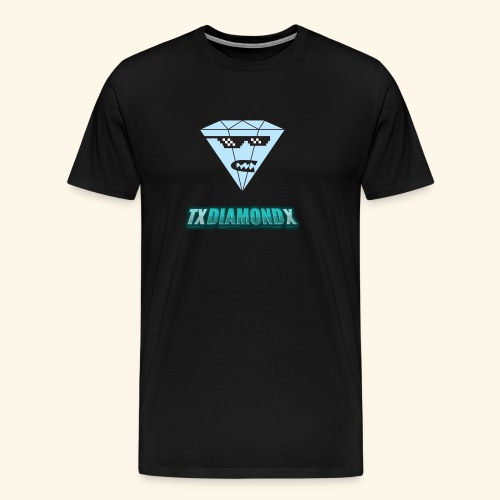 Txdiamondx Diamond Guy Logo - Men's Premium T-Shirt