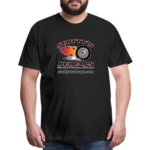 ScottysHubcaps Logo wWebsite WhiteOutline - Men's Premium T-Shirt