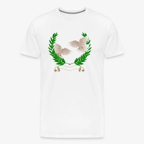 OLIVE BRANCH DOVES - Men's Premium T-Shirt