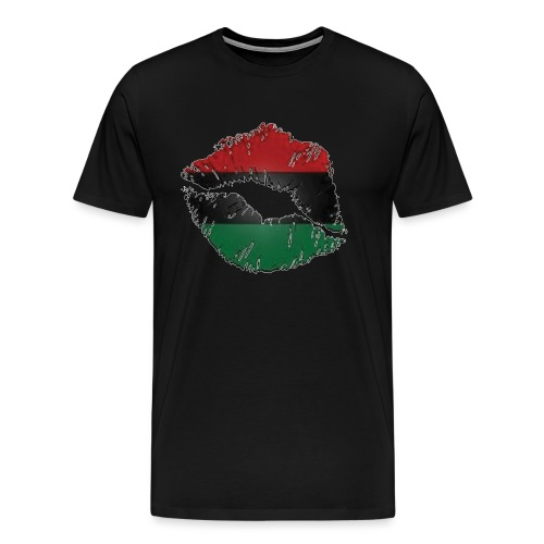 Red, black, green lips - Men's Premium T-Shirt