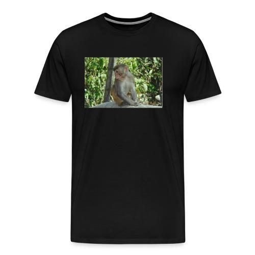 the monkey picture - Men's Premium T-Shirt