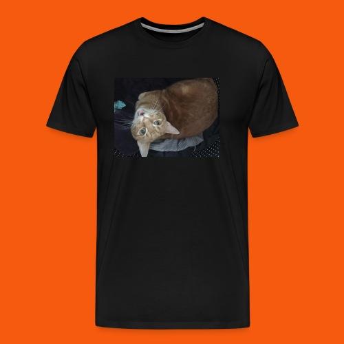 Funny Orange Cat - Men's Premium T-Shirt